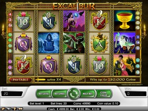 Excalibur Slot (Net Entertainment)