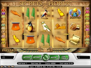 Secrets of Horus (Net Entertainment)