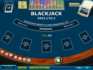 Blackjack (3 hand mode) (Playtech)