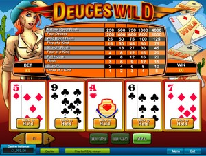 Deuces Wild Video Poker (Playtech)