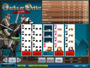 Jacks or Better 4 Line Video Poker (Playtech)