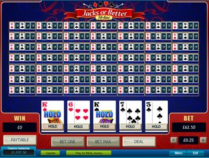 Jacks or Better 50 Line Video Poker (Playtech)