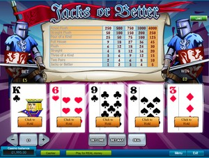 Jacks or Better Video Poker (Playtech)