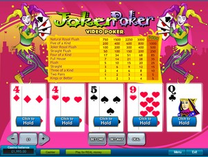 Joker Poker Video Poker (Playtech)
