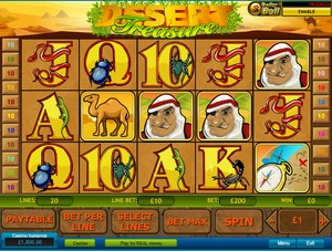 Desert Treasure Slot (Playtech)